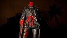 Estado en el que quedó la estatua de Colón en Miami
