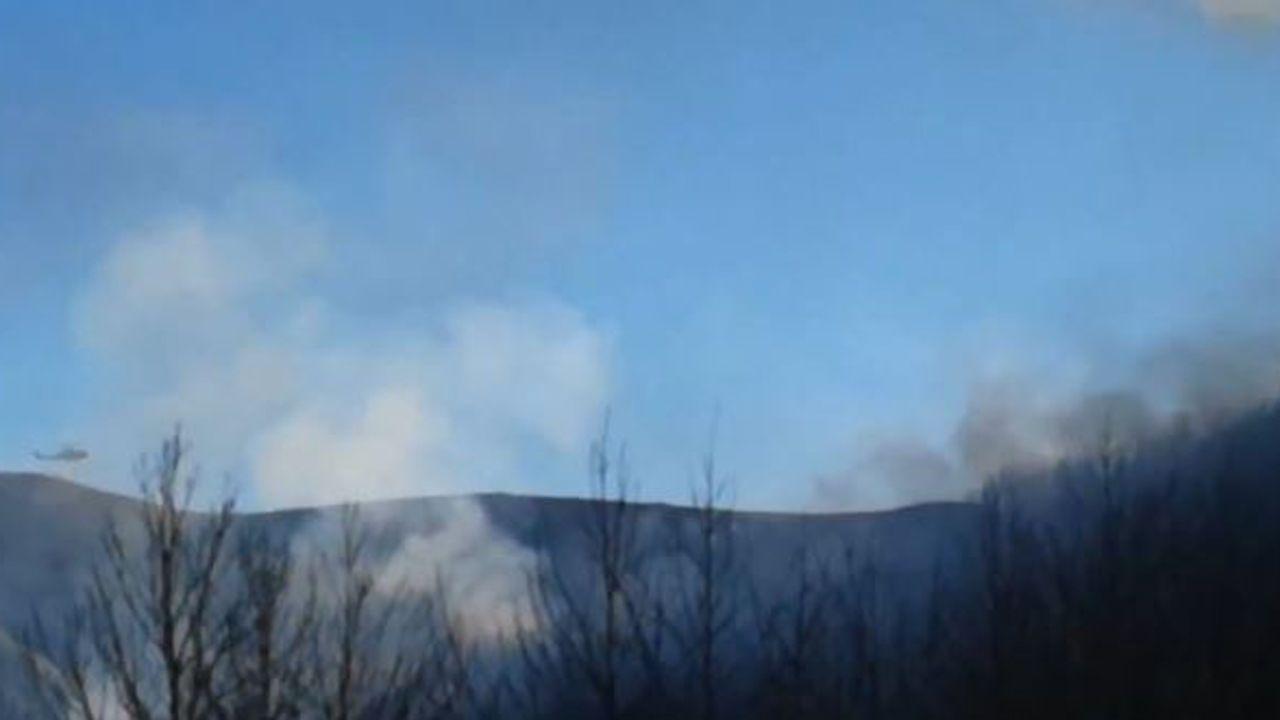 Espectaculares imágenes del incendio en Palacios del Sil.Sofía Castañón
