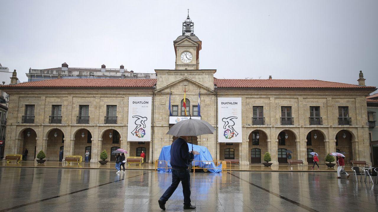 La plaza del ayuntamiento de Avilés