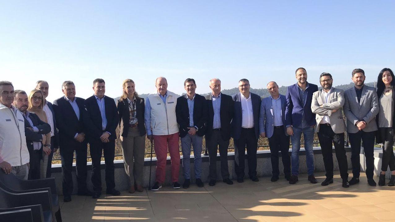 Reunión de la mancomunidad de O Salnés con el Rey Don Juan Carlos en noviembre de 2018