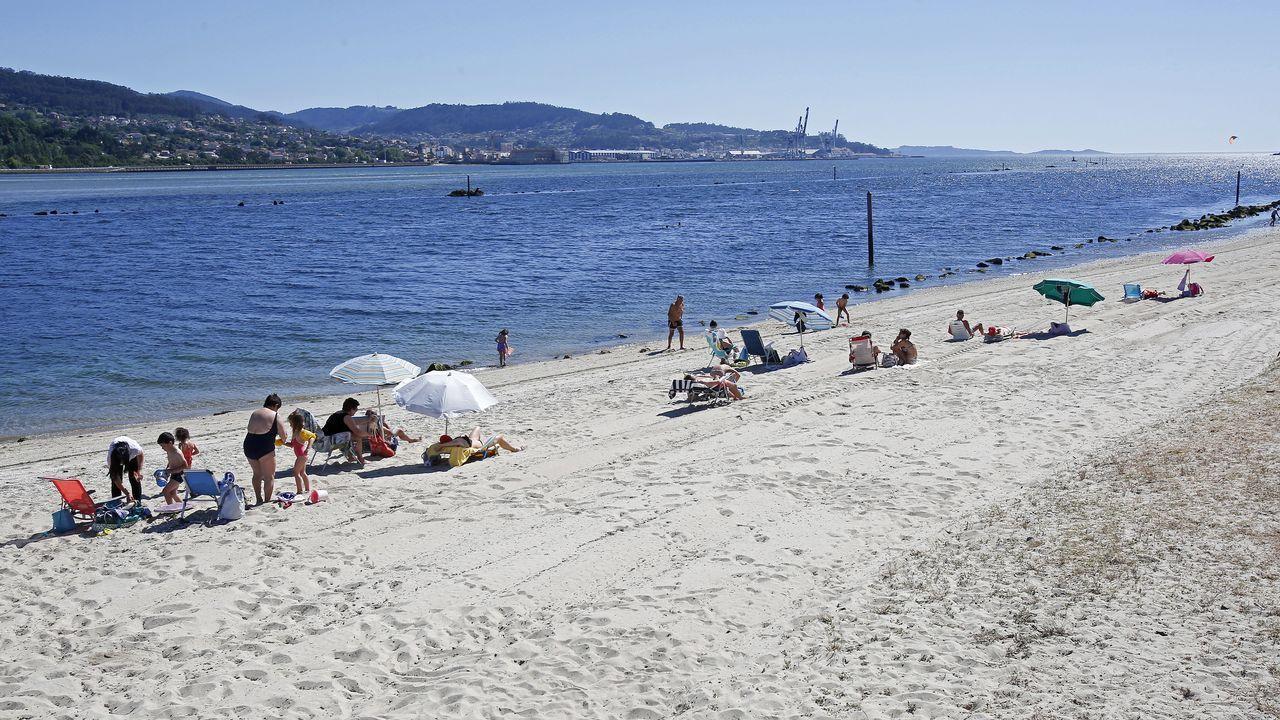 Playa de Lourido, en Poio
