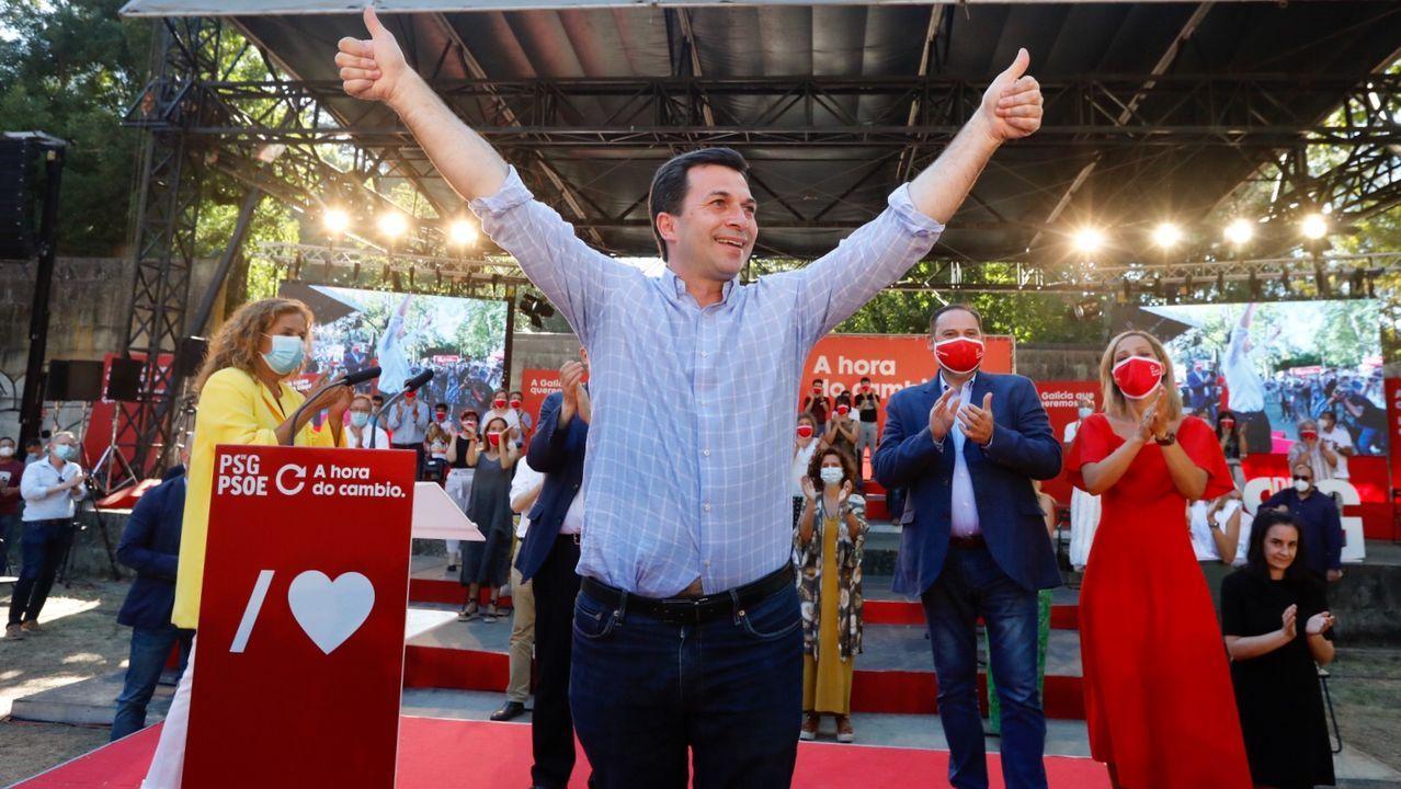 En directo: comparencencia de Gonzalo Caballero.Gonzalo Caballero en el mitin ofrecido en Vigo para cerrar la campaña