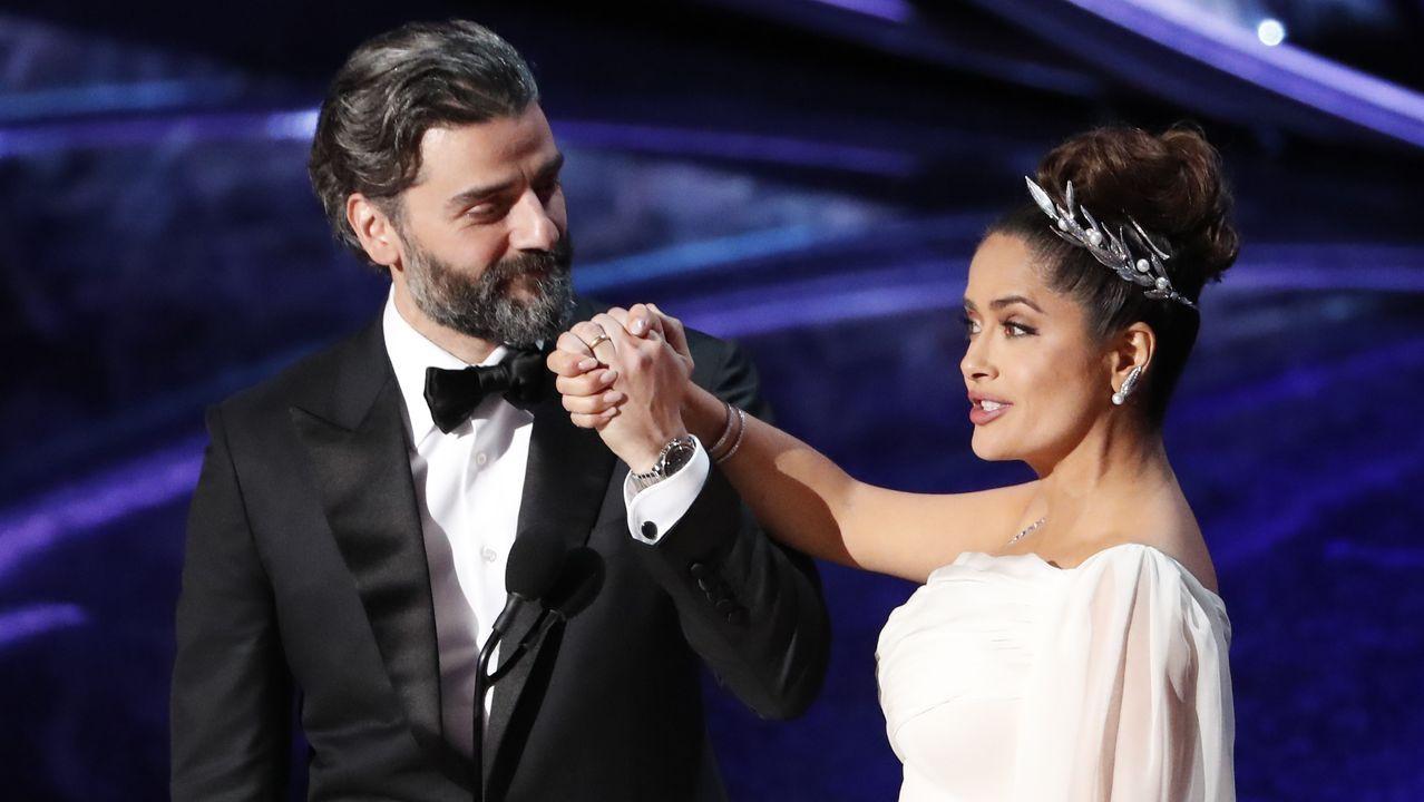 Salma Hayek y Oscar Isaac