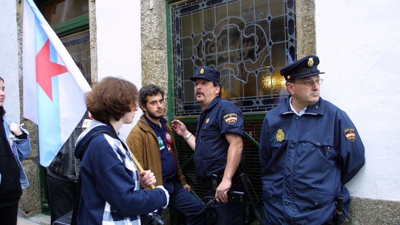 Durante la Huelga General del 15 de junio de 2001