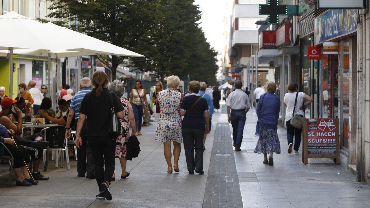 Imagen de la calle Barcelona, en A Coruña