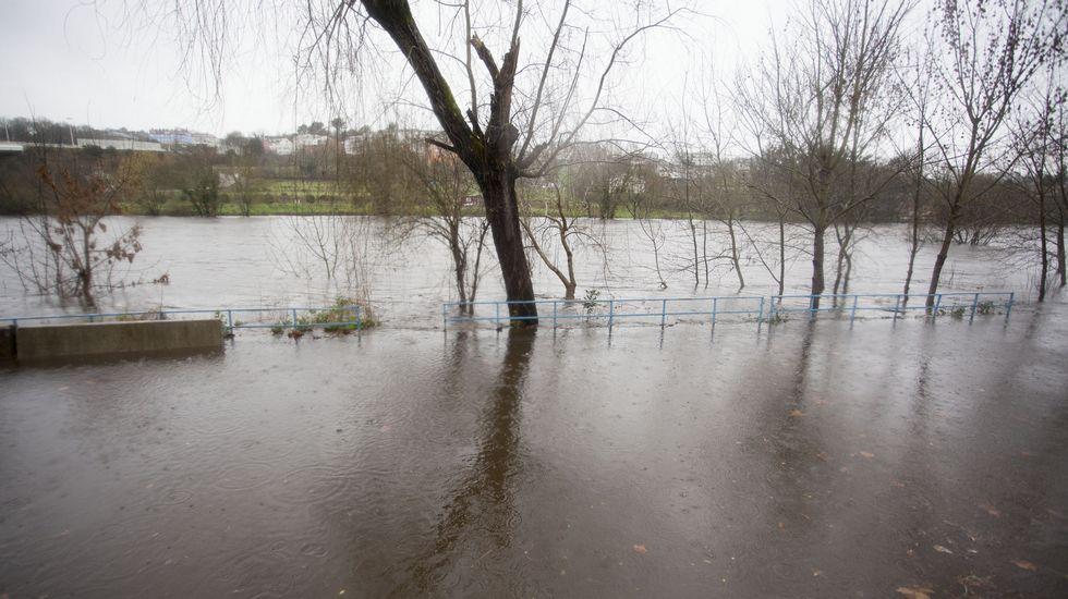 Inundaciones por el desbordamiento del Miño en Lugo.
