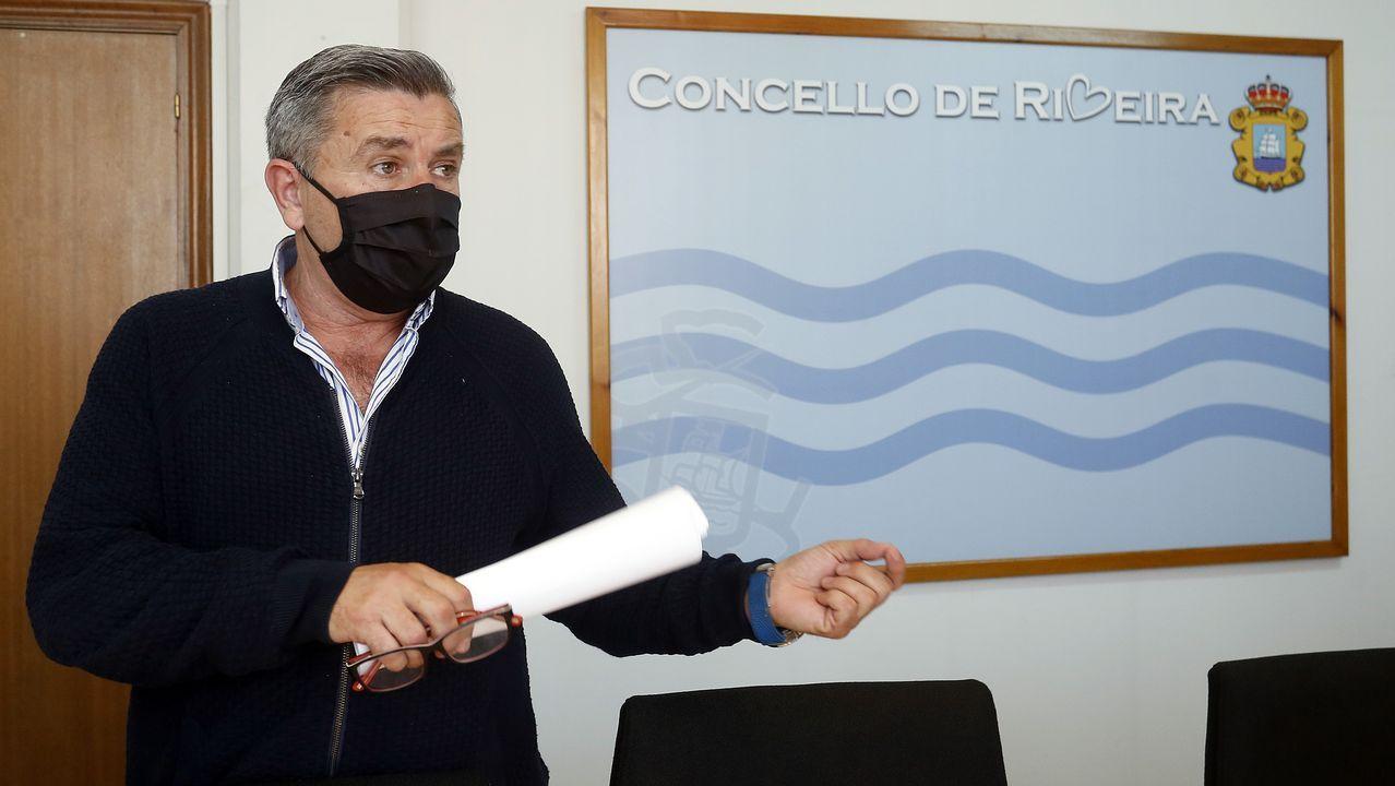 Imagen de archivo del cribado masivo que Sanidade realizó en Ribeira en noviembre