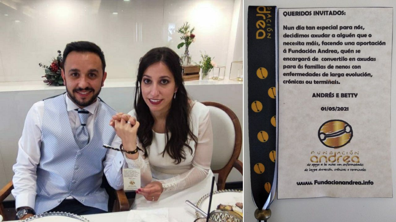 Así fue la inauguración del nuevo restaurante de Sicilia in Bocca.Andrés y Beatriz se casaron el mes pasado y dieron como obsequio a sus invitados pulseras de la Fundación Andrea. «Nun día tan especial para nós, decidimos axudar a alguén que o necesita máis», explicaron.