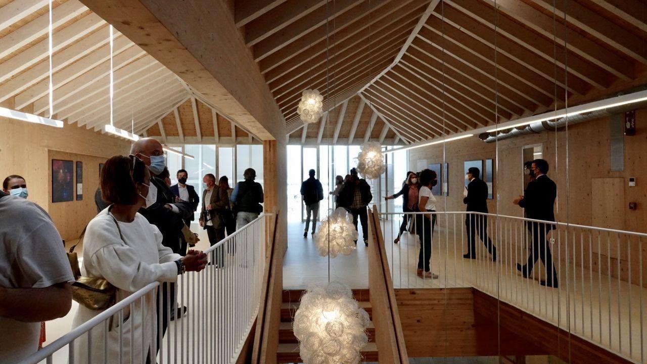 La Universidad de Vigo, también en O Berbés.Imagen de archivo de un aula escolar en Ferrol
