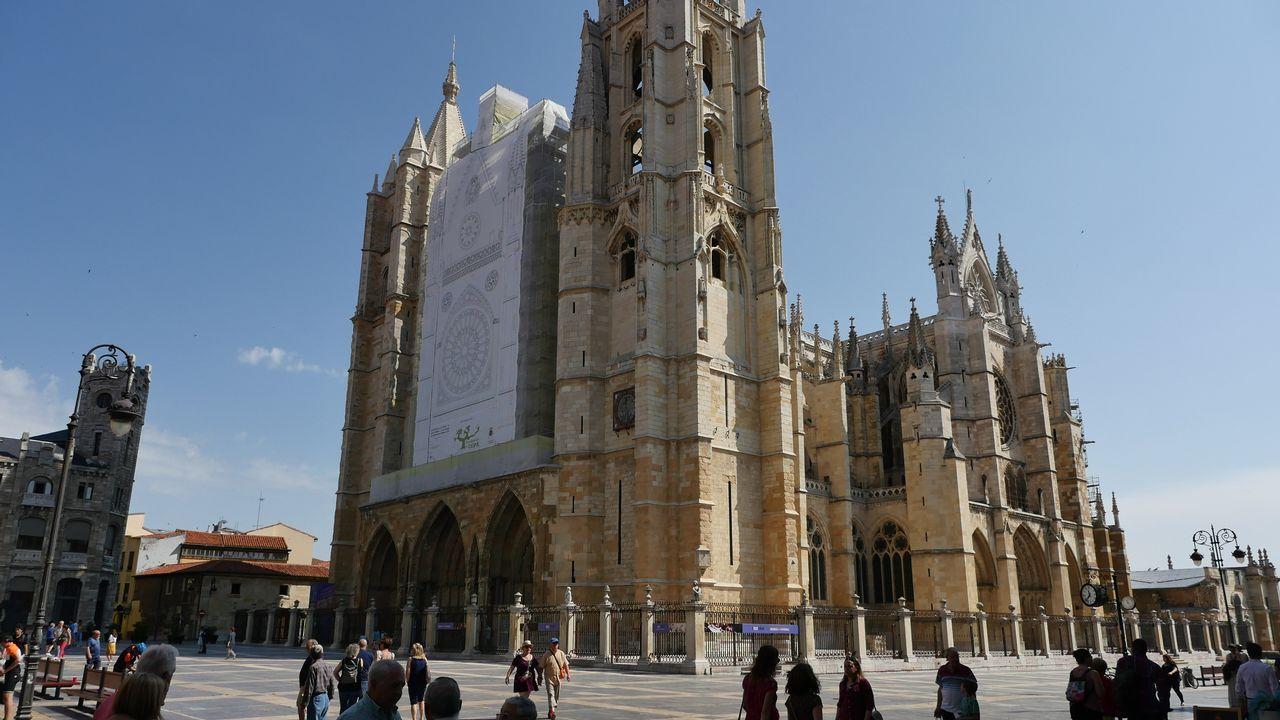 Vista de la catedral de León