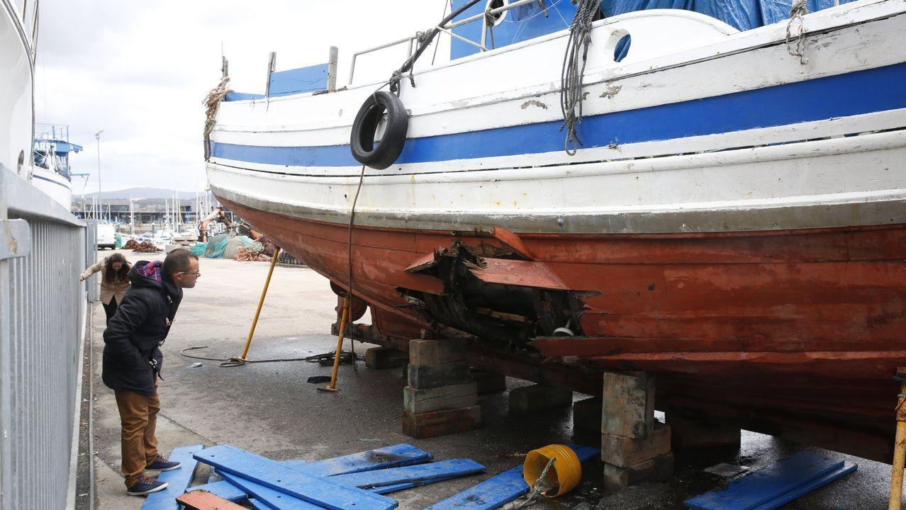 Simulacro en el puerto de Marín