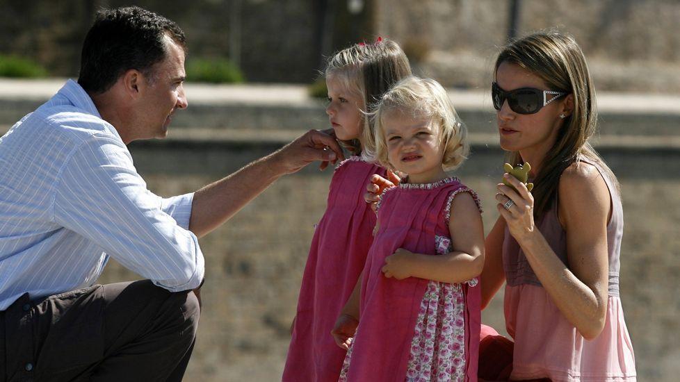 En el 2009, de vacaciones en Mallorca.