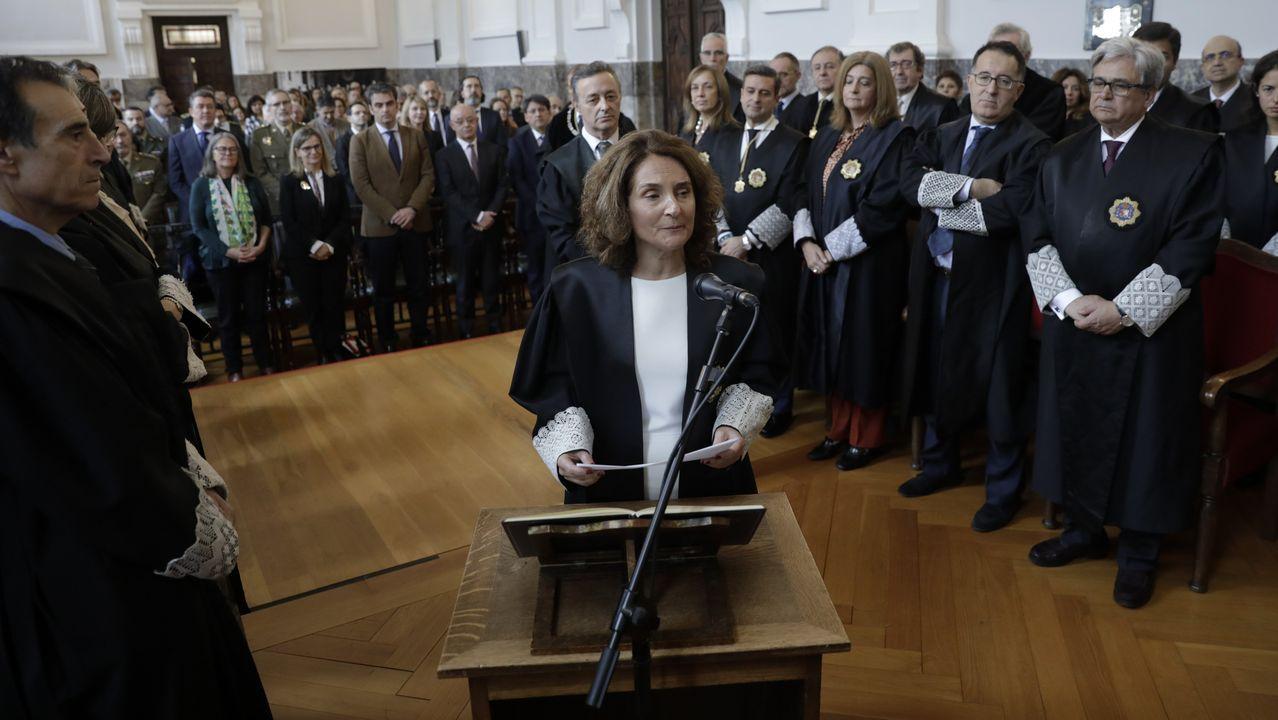 María Dolores Rivera tomó posesión este viernes como presidenta de la Sala de lo Contencioso-Administrativo del Tribunal Superior de Xustiza de Galicia
