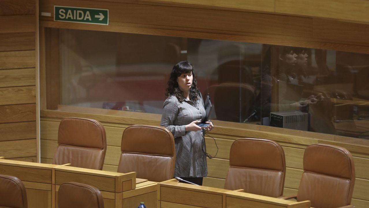 Masivo y bronco plenario de En Marea.Bescansa y Gómez-Reino, en la asamblea ciudadana de Podemos
