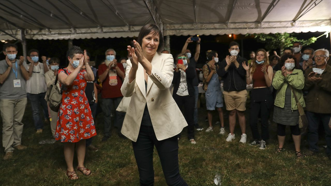 La líder del BNG, Ana Pontón, en un acto con simpatizantes