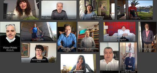 Turismo, desinfección y distancia por el mundo.Numerosos rostros conocidos participan en la campaña de concienciación.