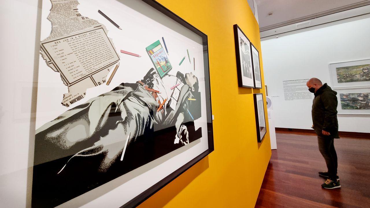 Warhol pasea sus latas por Vigo.Las piezas rescatadas pueden verse en la sala de armas del pazo de Xelmírez.