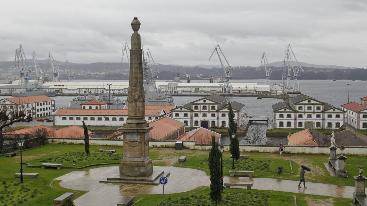 Vista del Arsenal de Ferrol