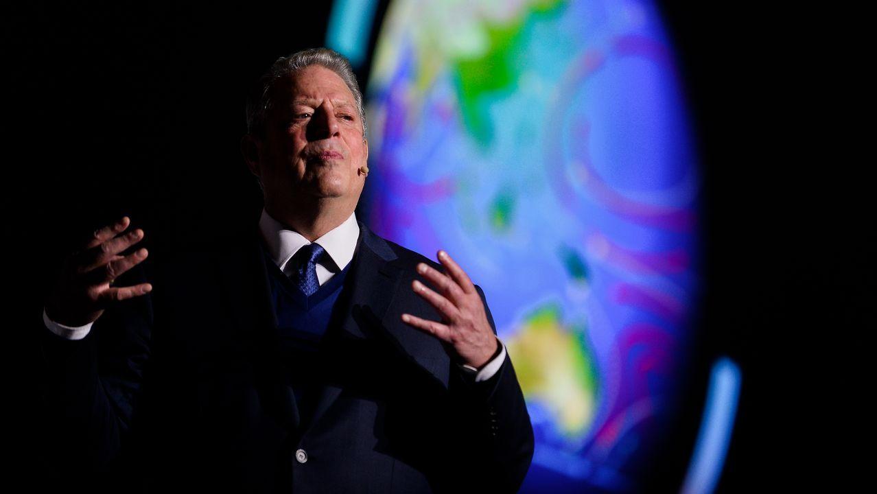 Al Gore, expresidente estadounidense y premio nobel de la paz por su lucha contra el cambio climático reclamó en la cumbre una acción decidida