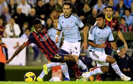 Tres empates y tres derrotas (la última ante el Barcelona) es el bagaje del Celta en Balaídos.