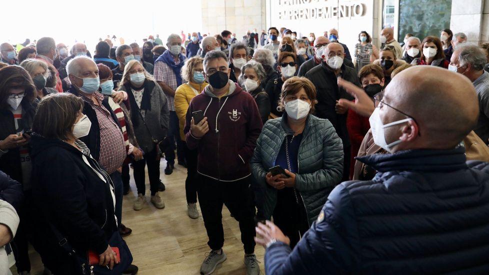 Vacunación masiva en Santiago
