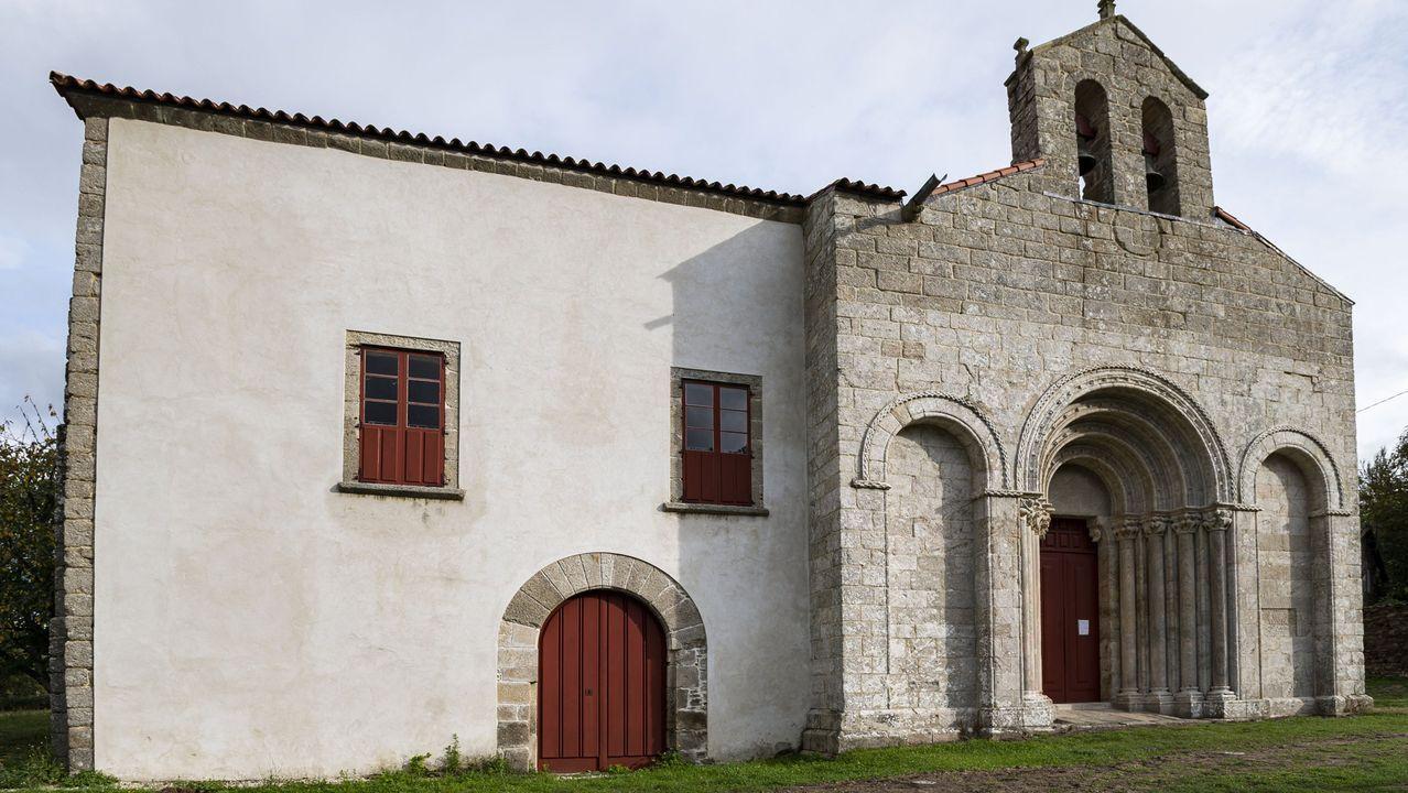 El antiguo palacio obispal está adosado a la iglesia románica de San Paio de Diomondi
