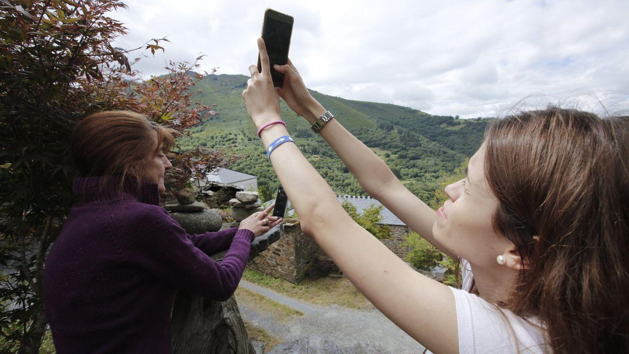 Aspecto que presentaba la zona oeste de Oviedo, en una jornada con el protocolo por contaminación activado