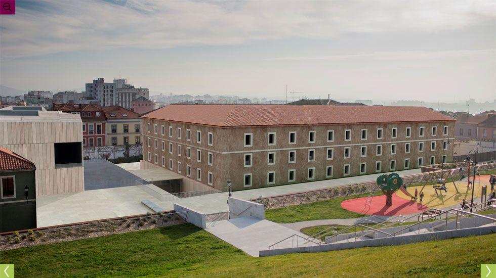 Simulación de la vista del conjunto desde el Cerro de Santa Catalina