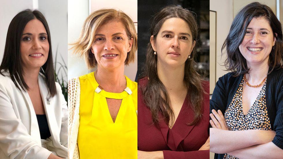De izquierda a derecha, Rocío Dono, Esther Amaro, Susana Ladra y Carmen Figueiras