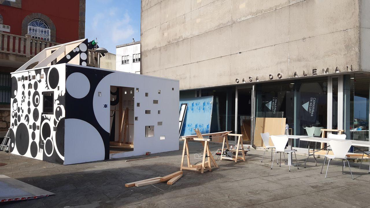 Museo do Mar.Jornada de arte urbano en el exterior del Verbum, en marzo del 2019