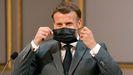El presidente Emmanuel Macron, el pasado domingo