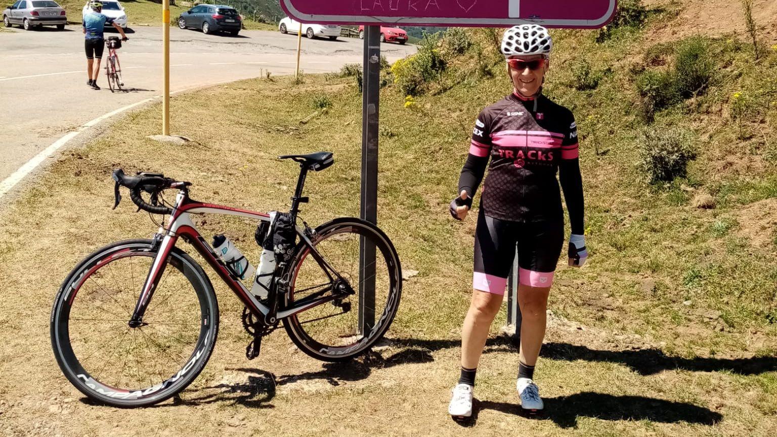 El nuevo Bike Park Junior de Manzaneda.Pilar Luque Cabal, 74 años