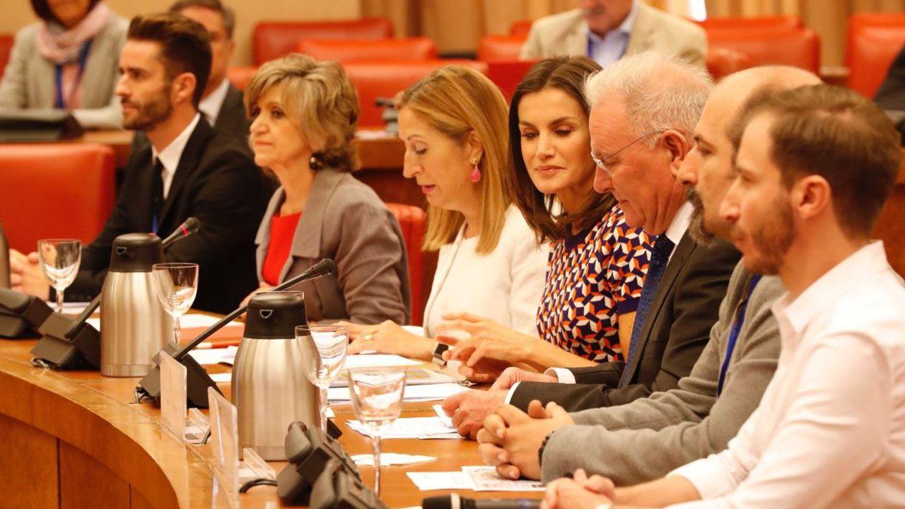 Letizia presidiendo el acto por el Día Mundial de la Salud Mental