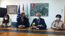 El secretario de estado de Turismo y el alcalde, reunidos ayer en el Ayuntamiento de Monforte