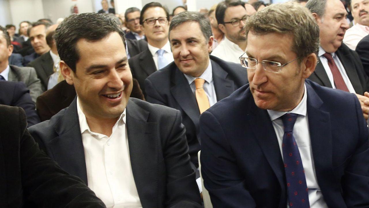 Presentación de los candidatos a alcaldes del PP en las 7 ciudades.Feijoo, Doforno, Irene Martínez y Valeriano Martínez
