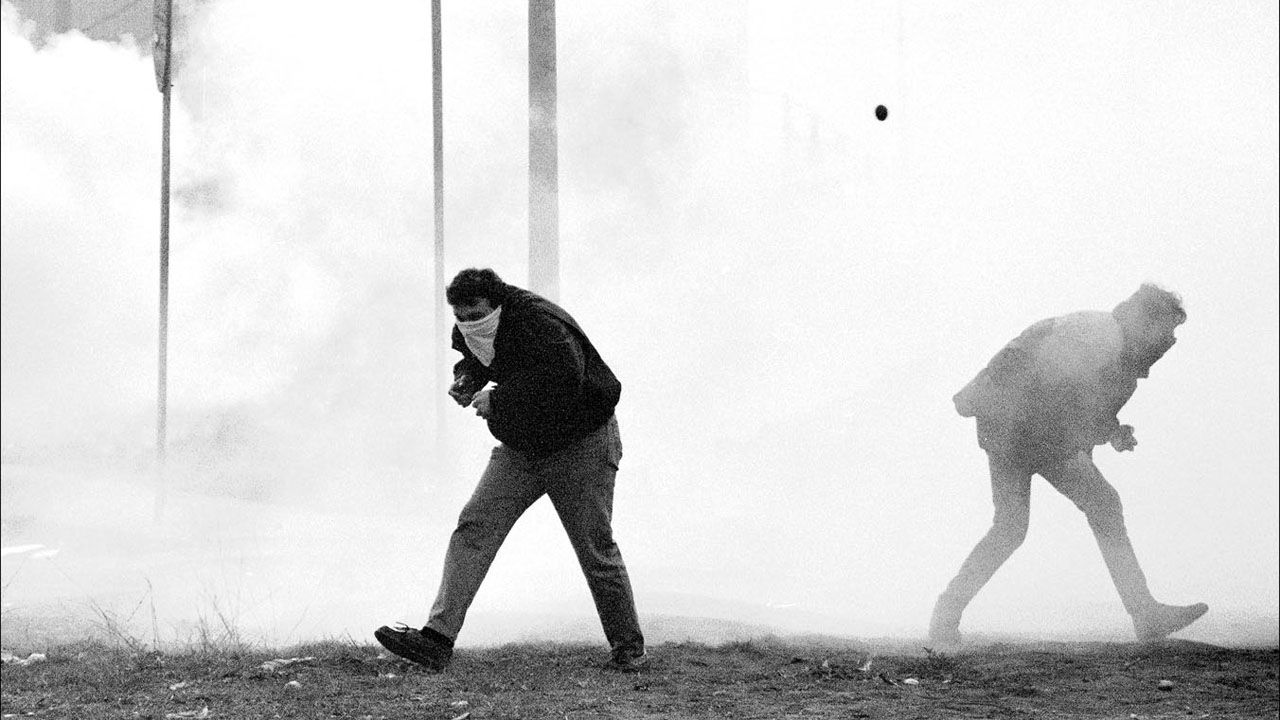Movilizaciones Mineras durante el encierro del Pozo Barredo. Mieres. Asturias (1992)