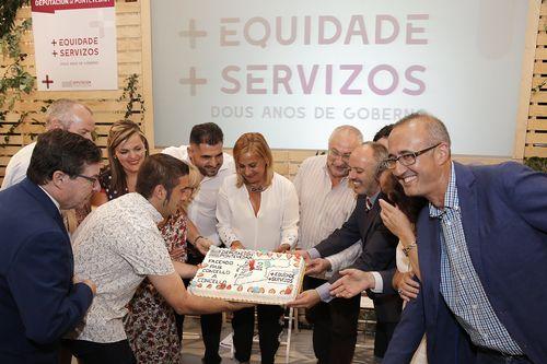 Segundo aniversario del gobierno bipartito en la Diputación