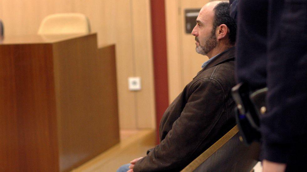 Javier Ledo, en la sala del Juzgado Penal 1 de Gijón