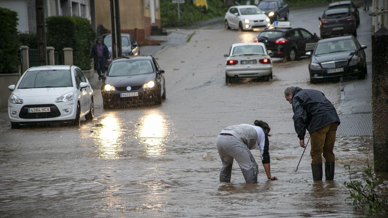 Álbum de fotos: El temporalque azota Barbanza, en imágenes