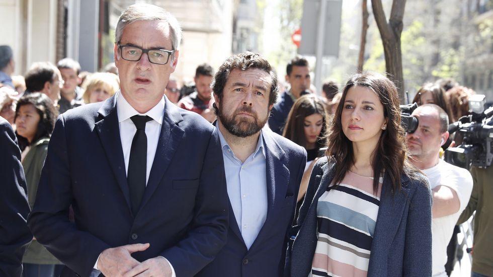 Los dirigentes de Ciudadanos Inés Arrimadas, José Manuel Villegas y Miguel Gutiérrez
