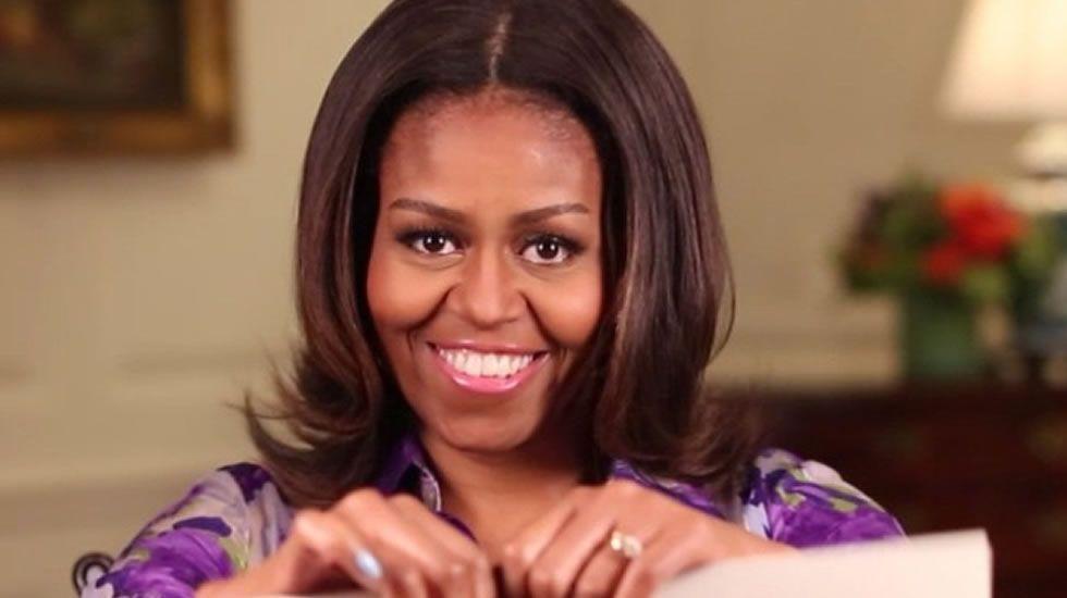 Felipe y Letizia visitan Washington.Michelle Obama, durante el último debate sobre el Estado de la Unión de su marido como presidente del Gobierno