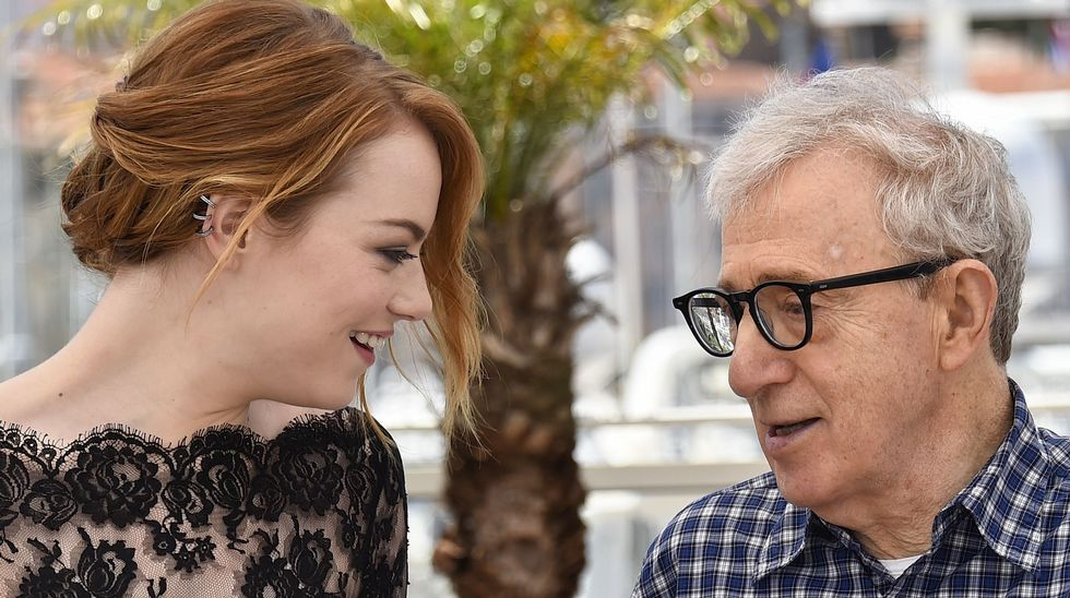 Emma Stone y Woody Allen