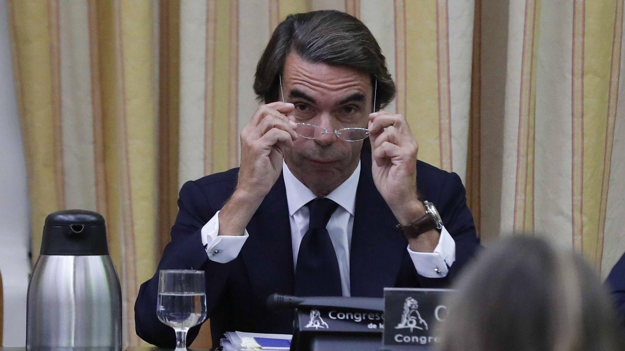 Los momentos más tensos entre Aznar, Rufián y Simancas.Pablo Casado