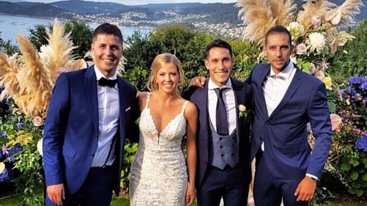 Iago Aspas, Jennifer Rueda y el pequeño Thiago