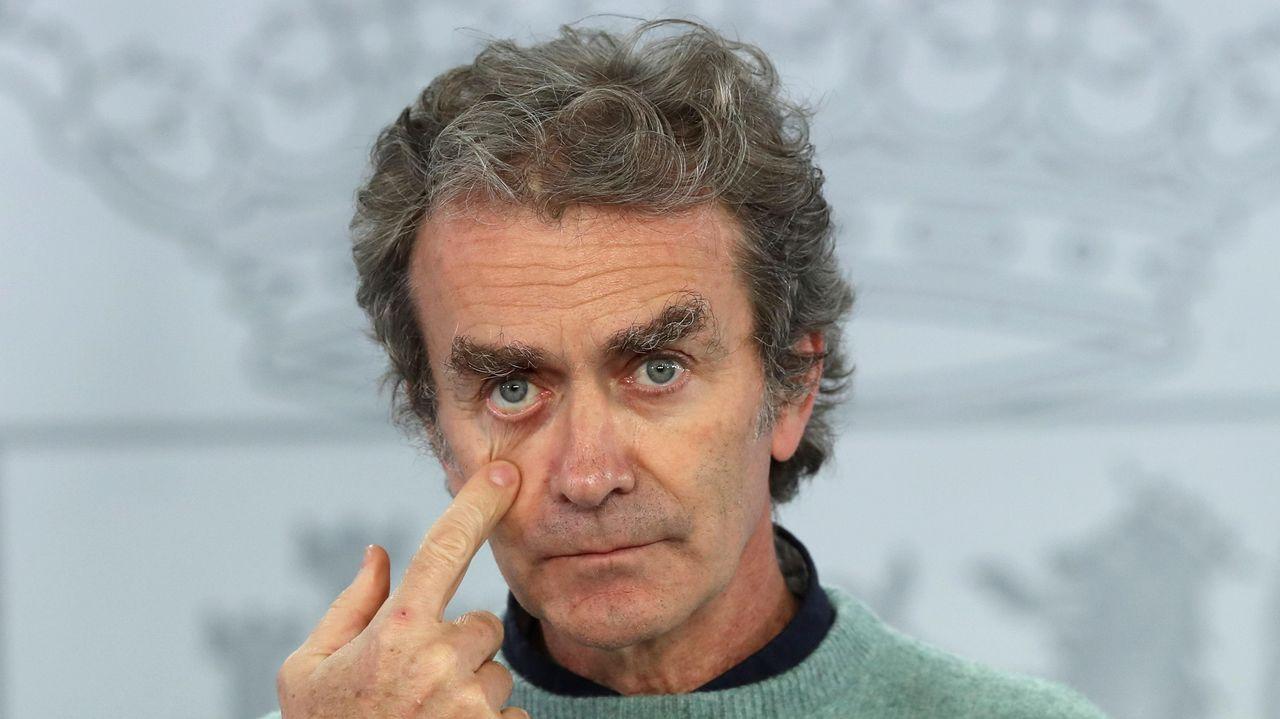 Pablo Casado, anunciando por videoconferencia que el PP abandonará su sede de la calle Génova, en Madrid