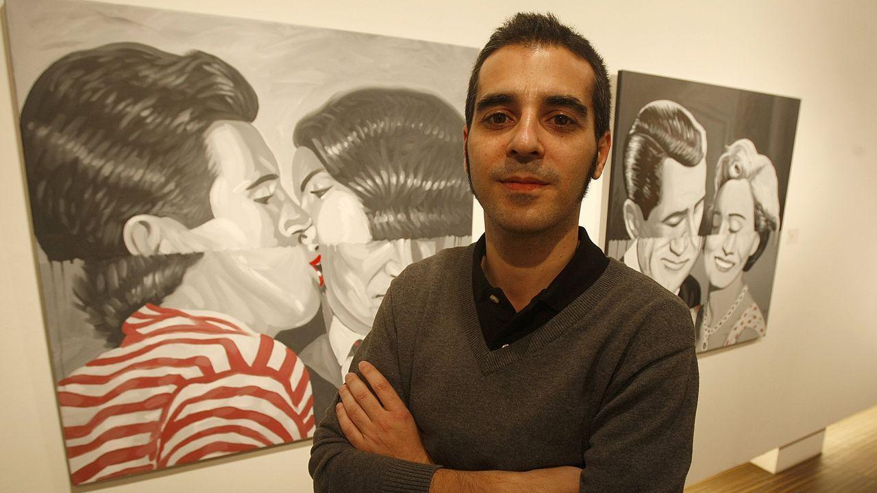 El artista coruñés Pablo Gallo. Imagen de archivo