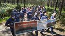 Las imágenes de la Marcha por los Penedos contra la implantación de proyectos eólicos