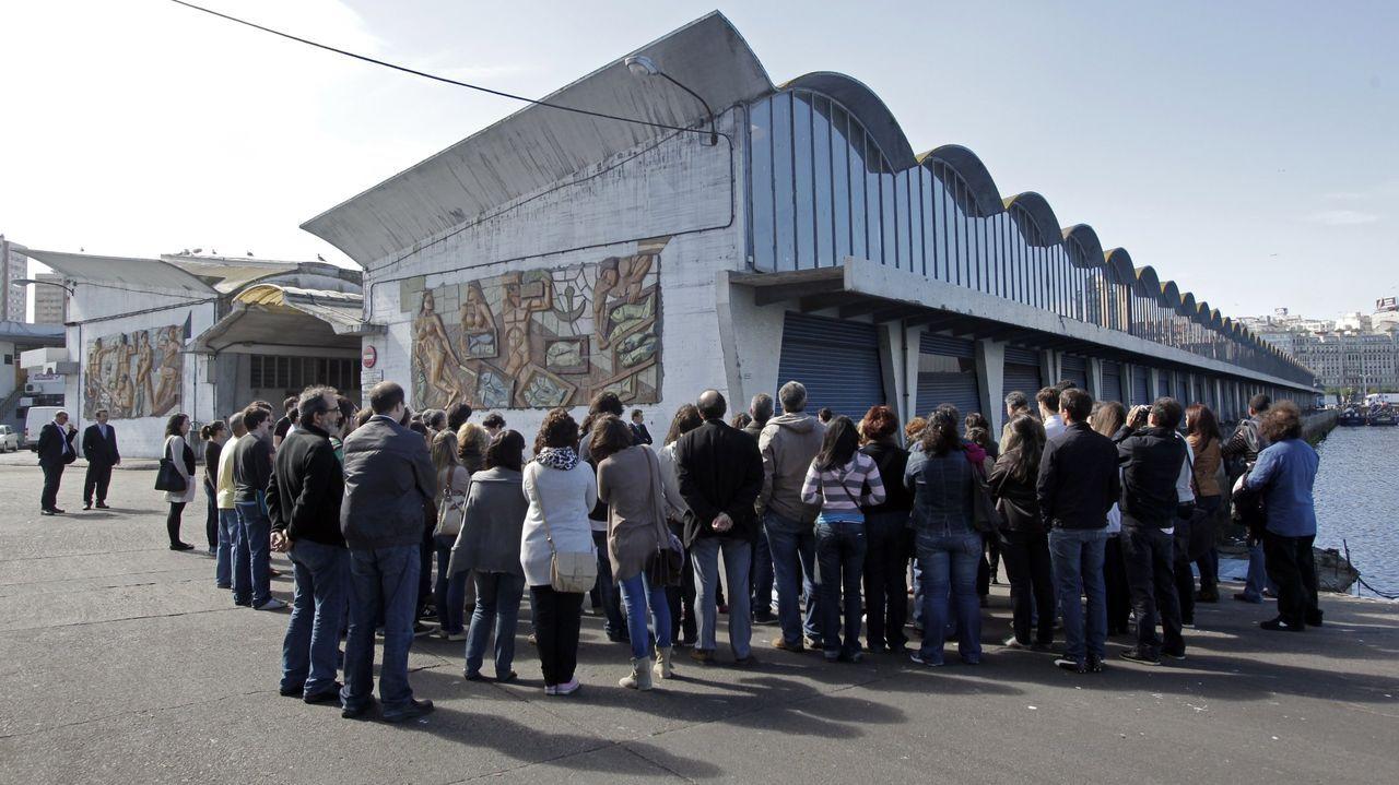 Detalle de la factoría embotelladora de Coca-Cola localizada en A Coruña, obra de Fernández-Albalat.