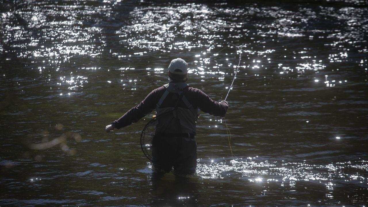 Así se vivió la primera jornada de la temporada de pesca fluvial en Galicia.Imagen del encuentro del pasado 7 de marzo