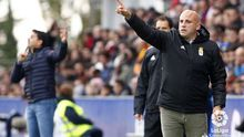 Javi Rozada durante el Huesca-Real Oviedo